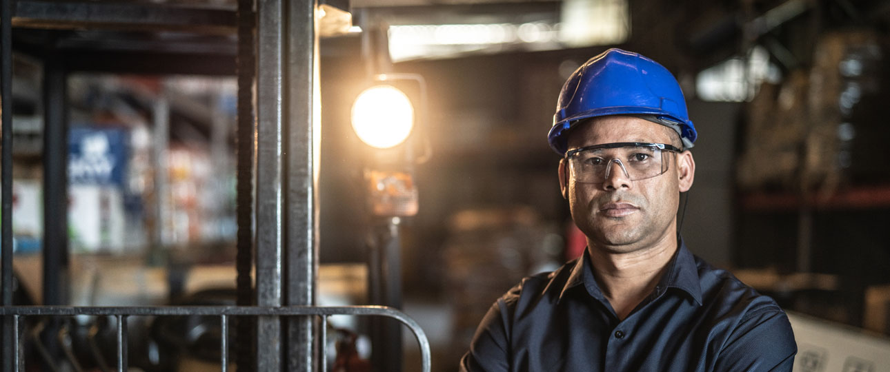 Factory Worker in Hardhat